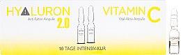 Parfumuri și produse cosmetice Ampule pentru față - Alcina Hyaluron 2.0 & Vitamin C Ampulle