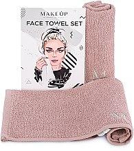 """Parfumuri și produse cosmetice Set de prosoape de față, pentru călătorii, bej """"MakeTravel"""" - Makeup Face Towel Set"""