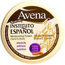 Parfumuri și produse cosmetice Cremă hidratantă pentru mâini și corp - Instituto Espanol Avena Moisturizing Cream Hand And Body