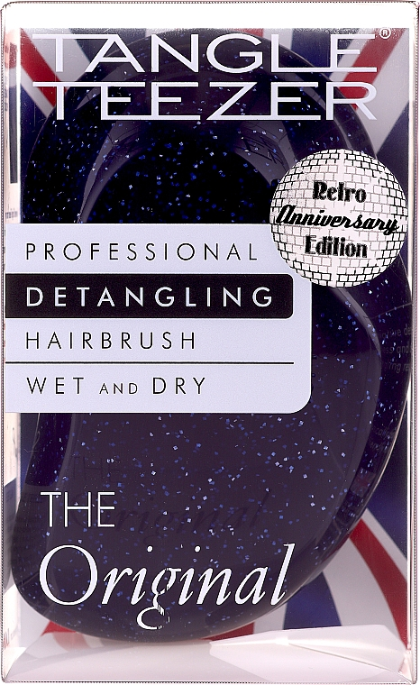 Perie de păr - Tangle Teezer The Original Purple Glitter Hair Brush — Imagine N5