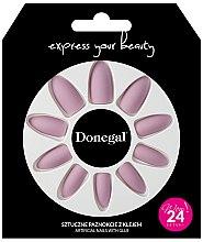Parfumuri și produse cosmetice Set unghii false, cu adeziv, 3054 - Donegal Express Your Beauty