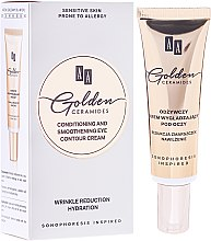 Cremă hidratantă, pentru zona din jurul ochilor - AA Cosmetics Golden Conditioning and Smoothening Eye Contour Cream — Imagine N1