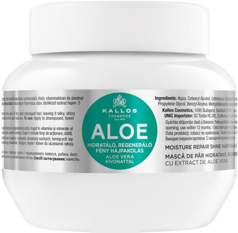 """Mască pentru hidratarea și regenerarea părului uscat și deteriorat """"Aloe"""" - Kallos Cosmetics Moisture Repair Aloe Hair Mask"""