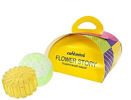 Parfumuri și produse cosmetice Set cadou - Cafe Mimi Flower Story (soap/80g + bath/bomb/120g)