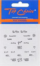 Parfumuri și produse cosmetice Postituri pentru unghii, 6 buc. - Top Choice Word Golds Silver