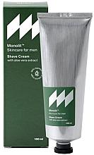Parfumuri și produse cosmetice Cremă cu extract de aloe vera pentru ras - Monolit Skincare For Men Shave Cream With Aloe Vera Extract
