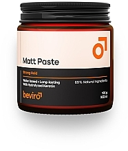 Parfumuri și produse cosmetice Pastă de păr - Beviro Matt Paste Strong Hold