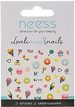 Parfumuri și produse cosmetice Abțibilduri pentru designul unghiilor, 3689, MJ121 - Neess