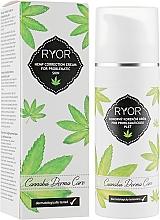 Parfumuri și produse cosmetice Cremă corectoare cu cânepă pentru pielea cu probleme - Ryor Cannabis Derma Care Corrective Hemp Cream For Skins To Pro