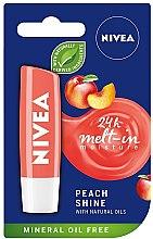 """Parfumuri și produse cosmetice Balsam de buze """"Luciu de piersici"""" - Nivea Lip Care Peach Shine Lip Balm"""