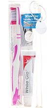 Parfumuri și produse cosmetice Set pentru îngrijirea dinților - White Glo Travel Pack (t/paste/24g + t/brush/1 + t/pick/8)