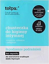 Parfumuri și produse cosmetice Șervețele pentru igiena intimă cu protecție calmantă - Tolpa Intima