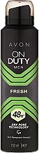 Parfumuri și produse cosmetice Deodorant-spray - Avon On Duty Men Fresh 48H Deodorant Spray