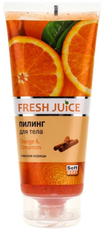 """Peeling de corp """"Portocală și scorțișoară"""" - Fresh Juice Orange & Cinnamon"""