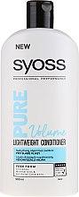 Balsam pentru păr fragil - Syoss Pure Volume Lightweight Conditioner — Imagine N1