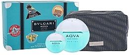 Parfumuri și produse cosmetice Bvlgari Aqva Pour Homme Marine - Set (edt/100ml + edt/mini/15ml + bag)