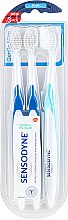 Parfumuri și produse cosmetice Set periuțe de dinți, moi - Sensodyne Gentle Care Soft Toothbruhs