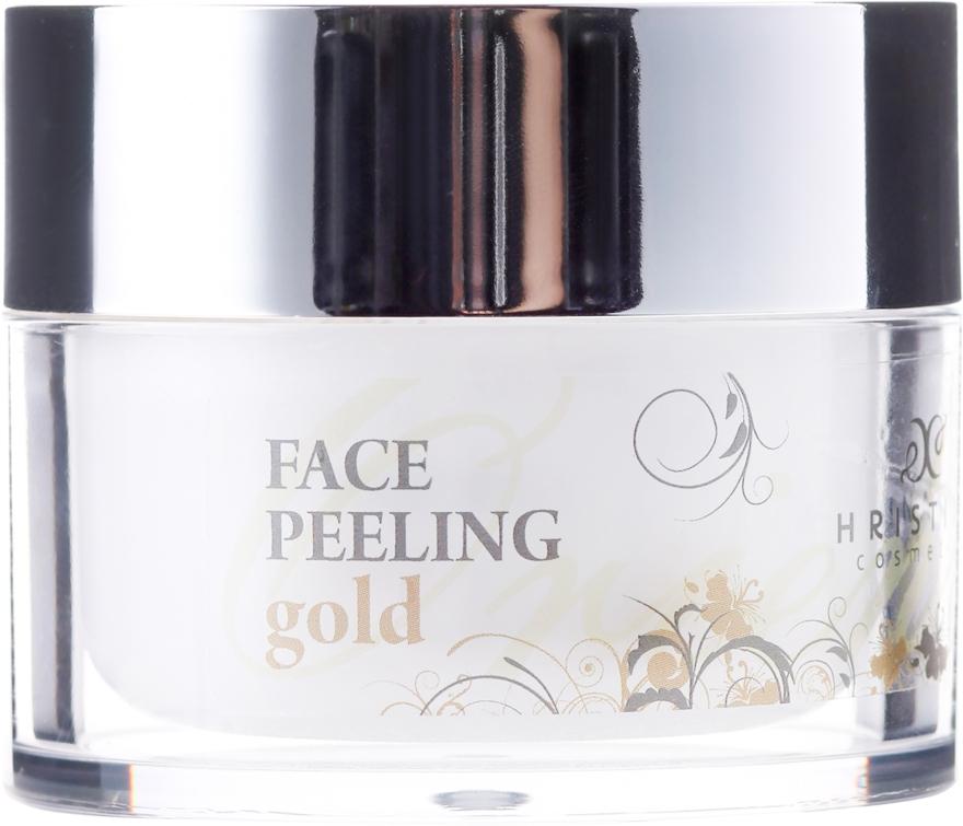 Scrub de față cu particule de aur - Hristina Cosmetics Orient Gold Face Peeling
