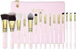 Set pensule pentru machiaj - Zoeva Screen Queen Complete Set (15 brushes + clutch) — Imagine N1