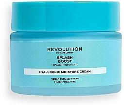 Parfumuri și produse cosmetice Cremă facială hidratantă cu acid hialuronic - Revolution Skincare Splash Boost with Hyaluronic Acid