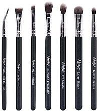 Parfumuri și produse cosmetice Set de pensule machiaj - Nanshy Eye Brush Set Onyx Black (Brush/7 buc.)
