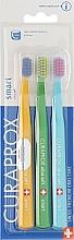 """Parfumuri și produse cosmetice Set de periuțe de dinți pentru copii """"Smart"""", portocaliu, verde, albastru - Curaprox"""