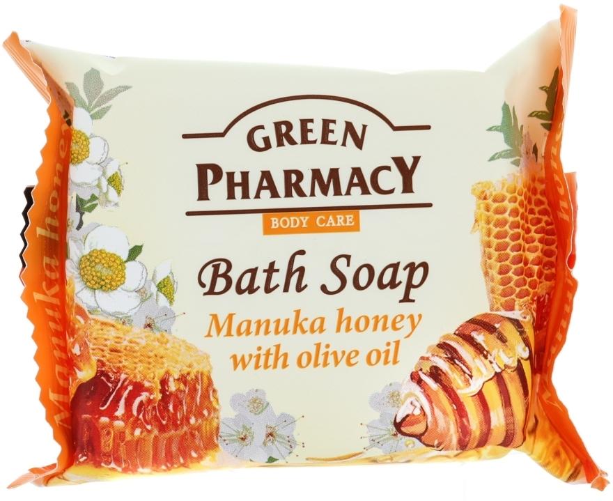 """Săpun """"Miere de manuka cu ulei de măsline"""" - Green Pharmacy — Imagine N1"""