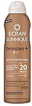 Parfumuri și produse cosmetice Loțiune-spray bronzant cu protecție solară - Ecran Sunnique Broncea+ Lotion Spf20