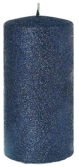 Lumânare decorativă, albastră 7x14cm - Artman Glamour — Imagine N1