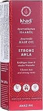 Parfumuri și produse cosmetice Ulei de păr, efect de întărire - Khadi Ayuverdic Strong Amla Hair Oil