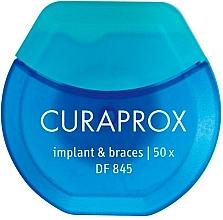 Parfumuri și produse cosmetice Ață dentară pentru implanturi și aparate dentare - Curaprox DF845 Implant & Braces