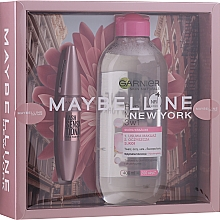 Parfumuri și produse cosmetice Maybelline New York (mascara/9.5ml + micellar water/400ml) - Set