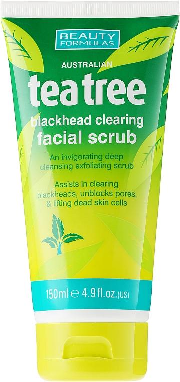 """Скраб для лица от угрей """"Чайное дерево"""" - Beauty Formulas Tea Tree Facial Scrub"""
