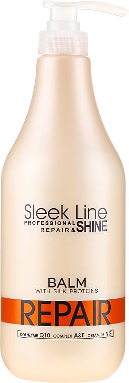 """Balsam de păr """"Regenerare și Strălucire"""" - Sleek Line Repair Shine Balsam"""