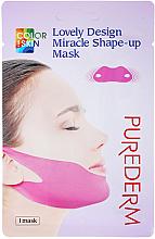Parfumuri și produse cosmetice Mască- bandaj pentru bărbie și pomeți - Purederm Lovely Design Miracle Shape-up V-line Mask