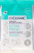 Parfumuri și produse cosmetice Șervetele umede pentru igiena intimă, 10 buc - Cleanic Intensive Care Wipes