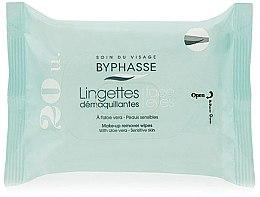 Parfumuri și produse cosmetice Șervețele demachiante, 20 bucăți - Byphasse Aloe Vera Make-up Remover Wipes Sensitive Skin