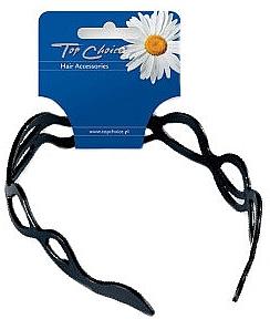Cerc de păr, ondulat, 27710, negru mat - Top Choice
