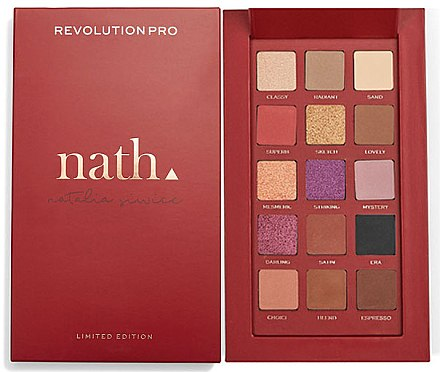 Paletă farduri de ochi - Makeup Revolution Pro X Nath Eyeshadow Palette — Imagine N1