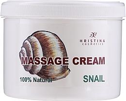Духи, Парфюмерия, косметика Cremă de masaj pentru față și corp - Hristina Cosmetics Massage Snail Cream