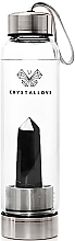 Parfumuri și produse cosmetice Sticlă cu cristal de obsidian negru, 500ml - Crystallove