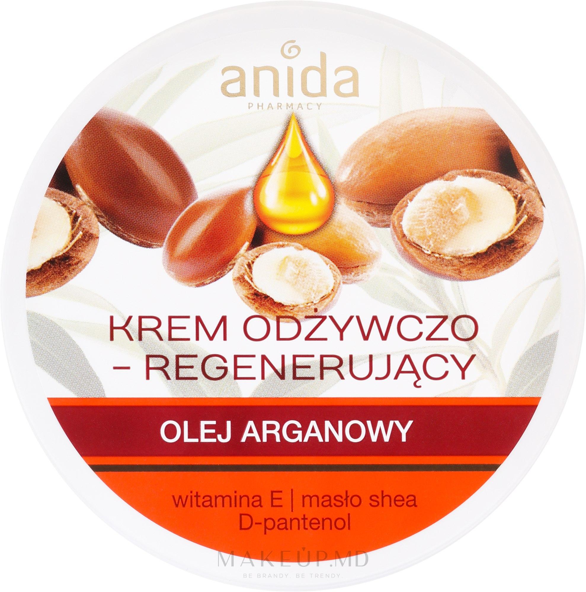 Cremă nutritivă cu ulei de argan - Anida Pharmacy Argan Oil Nourishing Cream — Imagine 125 ml