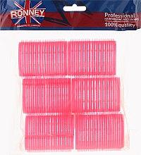 Parfumuri și produse cosmetice Bigudiuri cu arici 44/63, roz - Ronney Professional Velcro Roller