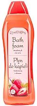 """Parfumuri și produse cosmetice Spumă de baie """"Măr verde și aloe"""" - Bluxcosmetics Naturaphy Strawberry & Aloe Vera Bath Foam"""