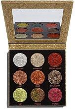 Parfumuri și produse cosmetice Paletă de machiaj - Makeup Revolution Pressed Glitter Palette Midas Touch