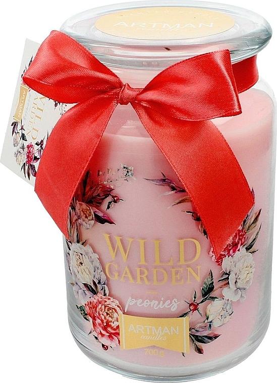 Lumânare aromatică, 10x16 cm., 700g. - Artman Wild Garden Peonies — Imagine N1