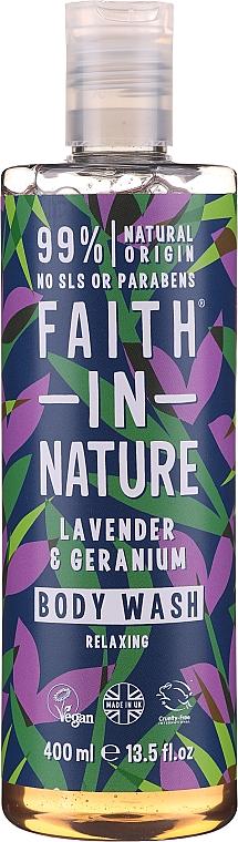 Gel de duș - Faith in Nature Lavender & Geranium Body Wash