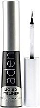 Parfumuri și produse cosmetice Tuș de ochi, rezistent la apă - Aden Cosmetics Liquid Eyeliner
