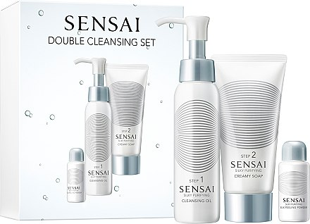 "Set ""Curățare dublă"" - Kanebo Sensai Silky Pur Double Cleansing Set (cl/oil/75ml + soap/75ml + peeling/6g) — Imagine N1"