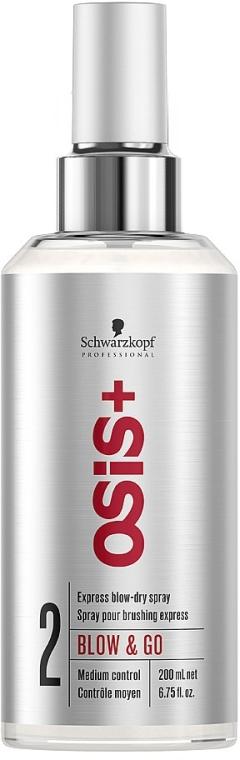 Spray pentru uscarea rapidă a părului - Schwarzkopf Professional Osis+ Blow & Go Dry Spray